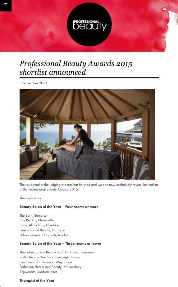 Professional Beauty Awards